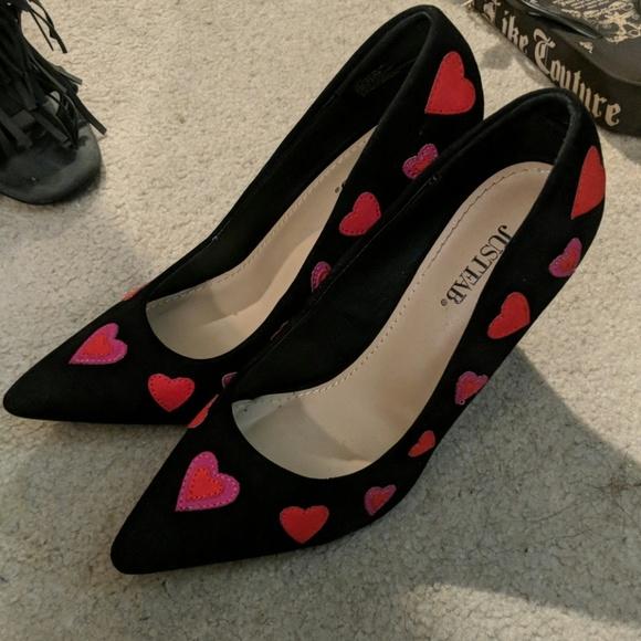 JustFab Shoes - Just Fab Lyssa heart pumps